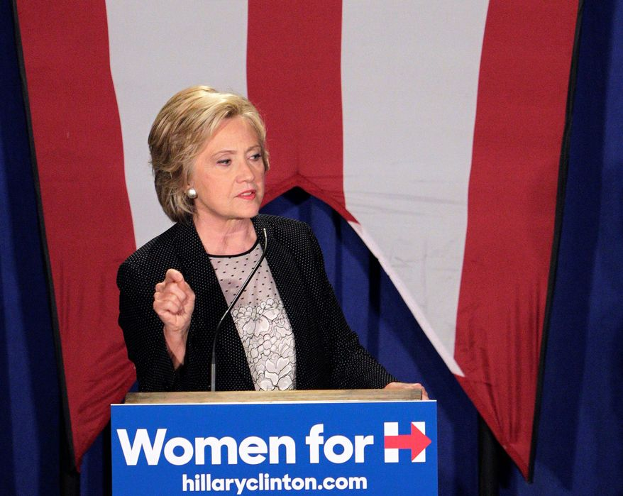 Hillary Rodham Clinton's lead has fallen precipitously, but her campaign is attempting to soften her image in an effort to bounce back. (Associated Press)