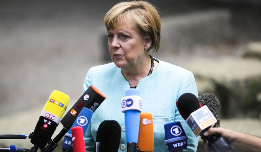 """I'm happy that Germany has become a country that many people abroad associate with hope,"" German Chancellor Angela Merkel told reporters during a press conference this week in Berlin, shortly before announcing her government would spend an additional $6.7 billion to deal with the influx. ""That is something very valuable, especially in view of our history."" (Associated Press)"