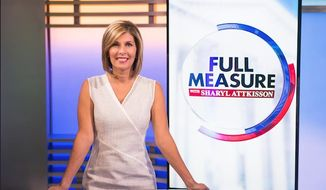 "Sharyl Attkisson, former CBS news anchor, hosts ""Full Measure with Sharyl Attkisson"" (Image: courtesy of Batt Humphreys, executive producer of ""Full Measure with Sharyl Attkisson"")"
