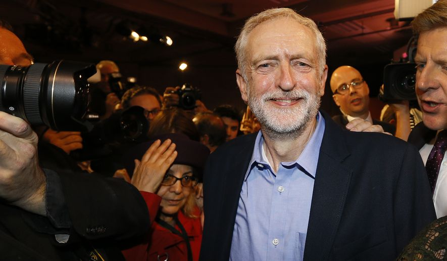 """Wouldn't it be wonderful if every politician around the world instead of taking pride in the size of their armed forces did what the people of Costa Rica have done and abolished the army and took pride in the fact that they don't have an army ... surely that is the way we should be going forward,"" said new Labor Party leader Jeremy Corbyn. (Associated Press)"