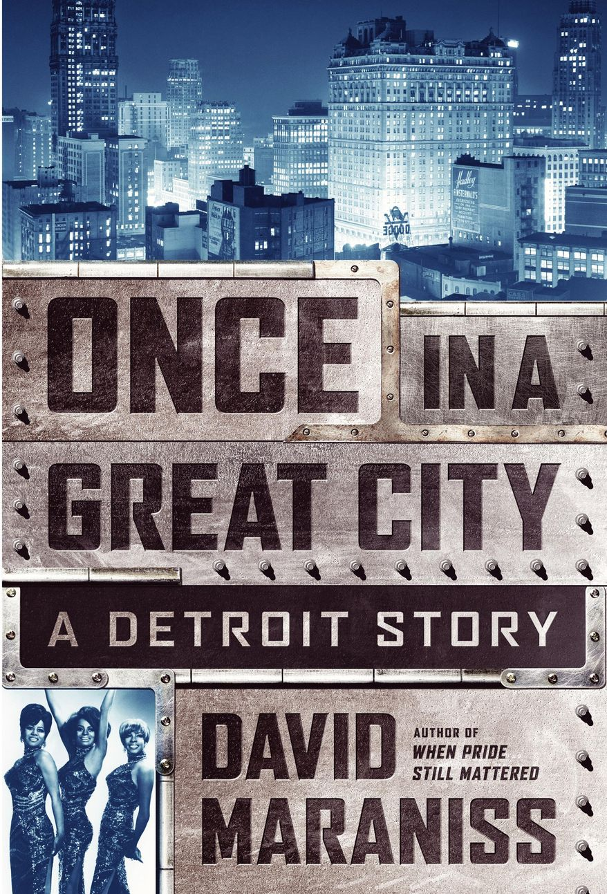 """This photo provided by Simon and Schuster shows the cover of the book, """"Once in a Great City,"""" by author David Maraniss. (Simon and Schuster via AP)"""