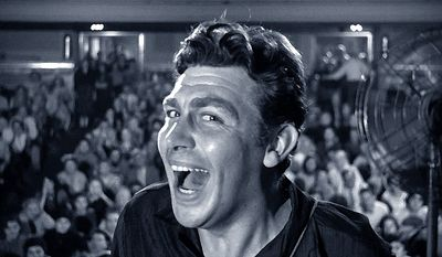 "Andy Griffith as Lonesome Rhodes in ""A Face in the Crowd"""