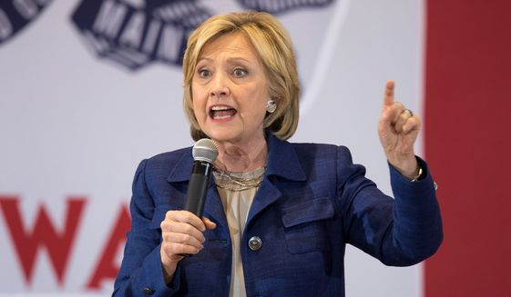 Democratic presidential candidate Hillary Rodham Clinton speaks to a crowd of women voters at University of Northern Iowa, Monday, a demographic where her poll numbers are slipping but who are key to her securing the Democratic nomination. (Associated Press)