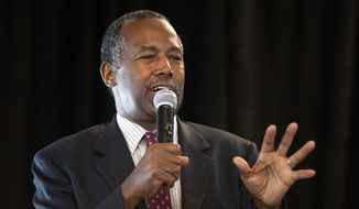 A Quinnipiac University Poll released on Friday found Ben Carson easily winning over born-again evangelical voters in Iowa, with support from 27 percent of those surveyed, compared with 20 percent for Mr. Trump. (Associated Press) ** FILE **