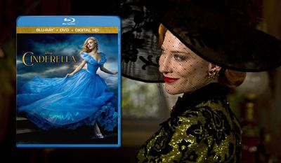 Cate Blanchett is the wicked stepmother in Disney's live action version of Cinderella, now available in Blu-ray.