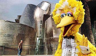 Big Bird Visits the Guggenheim Illustration by Greg Groesch/The Washington Times