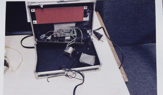 This photo provided by the Irving Police Department shows the homemade clock that Ahmed Mohamed brought to school,  Wednesday, Sept.16, 2015, in Irving. Police detained the 14-year-old Muslim boy after a teacher at MacArthur High School decided that the homemade clock he brought to class looked like a bomb, according to school and police officials. The family of Ahmed Mohamed said the boy was suspended for three days from the school in the Dallas suburb. (Irving Police via AP) ** FILE **