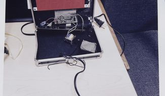 This photo provided by the Irving Police Department shows the homemade clock that Ahmed Mohamed brought to school,  Wednesday, Sept.16, 2015, in Irving. Police detained the 14-year-old Muslim boy after a teacher at MacArthur High School decided that the homemade clock he brought to class looked like a bomb, according to school and police officials. The family of Ahmed Mohamed said the boy was suspended for three days from the school in the Dallas suburb. (Irving Police via AP)