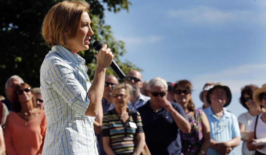 Carly Fiorina's hard-fought addition to the CNN debate main stage after being shunned in the August debate held by Fox News was on the minds of many of the women The Times interviewed. (Associated Press)