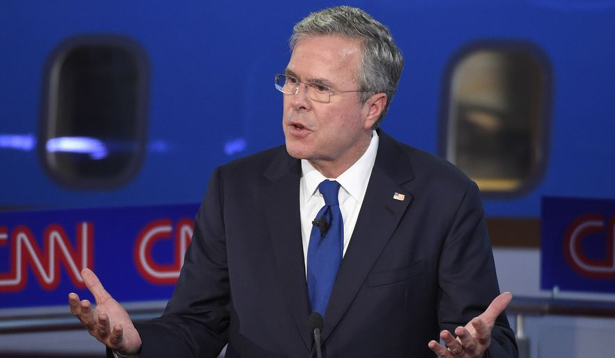 """""""Forty years ago, I smoked marijuana, and I admit it,"""" Jeb Bush said during a discussion of drug policy. """"I'm sure that other [candidates] might have done it, and may not want to say it in front of 25 million people. My mom's not happy that I just did."""" (Associated Press)"""