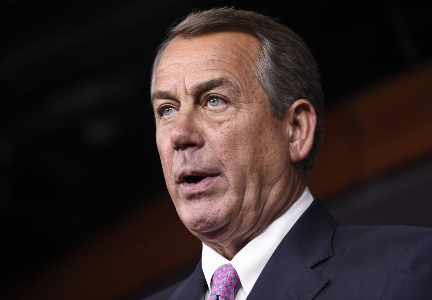 House Speaker John A. Boehner and his leadership team are desperate to avoid a government shutdown, convinced the GOP would be blamed for a shutdown, as occurred in 2013 when the government partially closed for 16 days when Republicans attempted to defund Obamacare. (Associated Press)