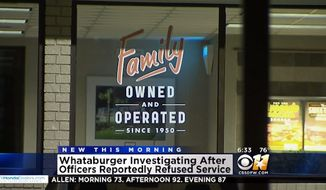 Whataburger has apparently fired an employee who refused to serve two officers in uniform Tuesday night at a Lewisville, Texas, restaurant. (CBS DFW)