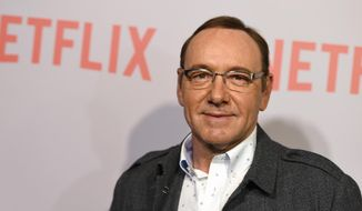 "In this April 27, 2015, file photo, Kevin Spacey arrives at the Q&A Screening of ""The House Of Cards"" at the Samuel Goldwyn Theater in Beverly Hills, Calif. (Photo by Jordan Strauss/Invision/AP, File)"
