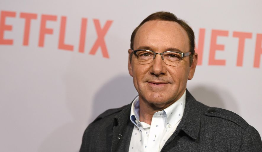 """In this April 27, 2015, file photo, Kevin Spacey arrives at the Q&A Screening of """"The House Of Cards"""" at the Samuel Goldwyn Theater in Beverly Hills, Calif. (Photo by Jordan Strauss/Invision/AP, File)"""