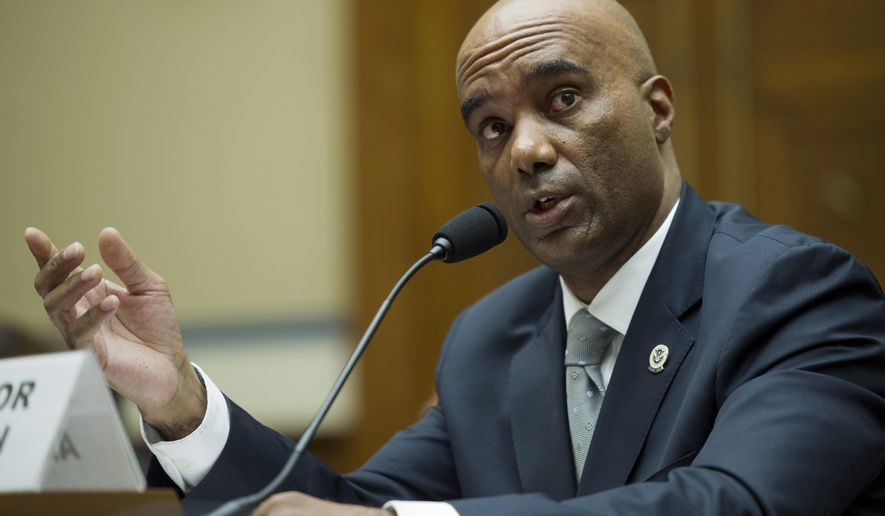 Federal Air Marshal Service Director Roderick Allison testifies on Capitol Hill in Washington, Thursday, Sept. 17, 2015, before the House Oversight and Government Reform Committee hearing to examine personnel actions taken at the Federal Air Marshal Service (FAMS) to address improper behavior. Two federal air marshals have been suspended and a third has resigned amid allegations they hired prostitutes overseas and recorded at least one sexual encounter with a government-issued device. (AP Photo/Cliff Owen)