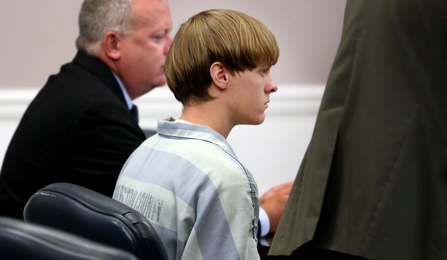 Dylann Roof appears at a court hearing in Charleston, S.C., on Thursday, July 16, 2015. He is accused of killing nine people at the Emanuel AME Church in Charleston in June 2015. (Grace Beahm/The Post and Courier via AP, Pool) ** FILE **