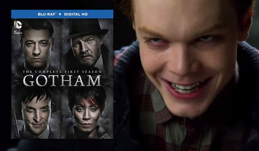 Actor Cameron Monaghan teases as the budding Clown Prince of Crime in Gotham: The Complete First Season from Warner Home Video, now available in Blu-ray.