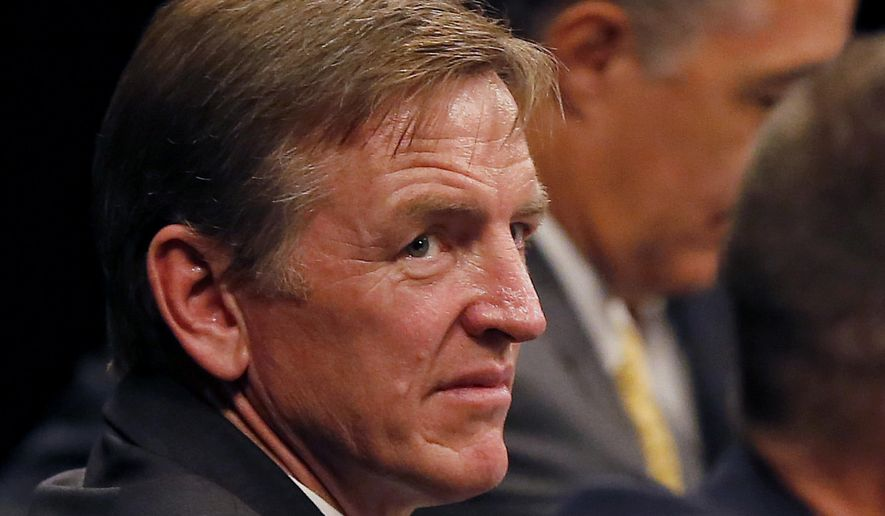 In this Aug. 22, 2013, file photo, Rep. Paul Gosar, R-Ariz., is seen in Mesa, Ariz. Gosar says he boycotted Pope Francis' speech to Congress. (AP Photo/Matt York, File)