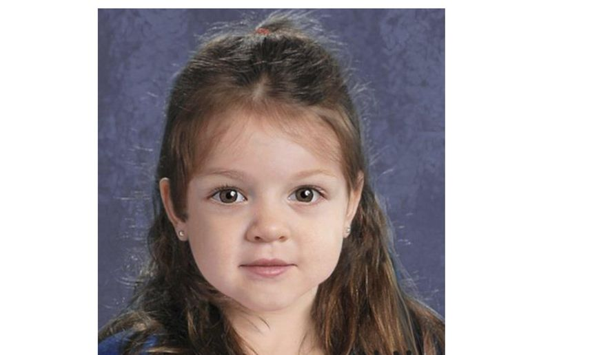 This undated flyer released Thursday, July 9, 2015, by the Suffolk County Massachusetts District Attorney includes a computer-generated composite image depicting the possible likeness of a young girl whose body was found on the shore of Deer Island in Boston Harbor on June 25, 2015. A law enforcement official told The Associated Press Friday, Sept. 18, 2015, that authorities have identified the little girl.  (Suffolk County District Attorney via AP, File)