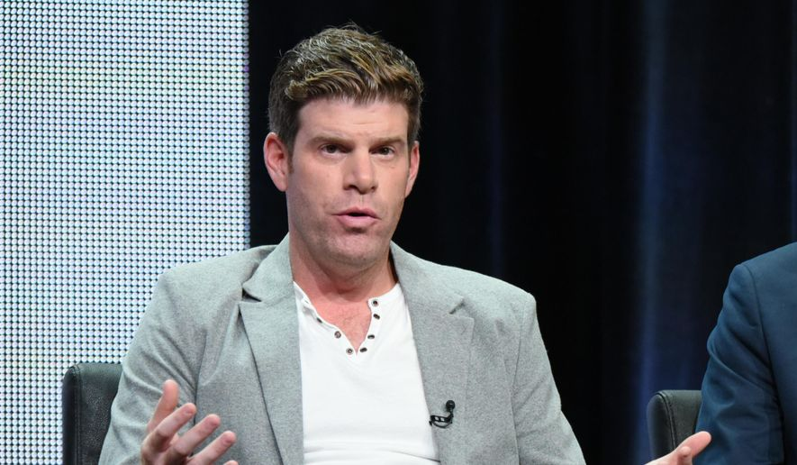 "In this Aug. 7, 2015, file photo, Steve Rannazzisi participates in ""The League"" panel at the FX Summer TCA Tour at the Beverly Hilton Hotel in Beverly Hills, Calif. (Photo by Richard Shotwell/Invision/AP, File)"