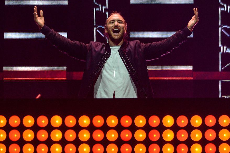 David Guetta  performs at Day 1 of the 2015 iHeartRadio Music Festival at the MGM Grand Garden Arena on Friday, Sept. 18, 2015 in Las Vegas. (Photo by Al Powers/Powers Imagery/Invision/AP)