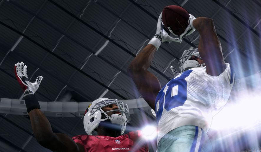 Control a receiver to make spectacular catches in the video game Madden NFL 16 from EA Sports.