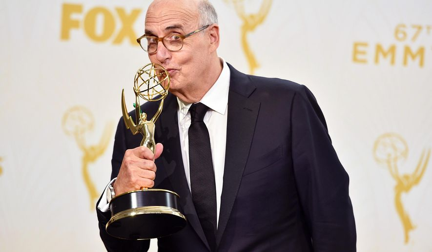 "Jeffrey Tambor, winner of the award for outstanding lead actor in a comedy series for ""Transparent"", poses in the press room at the 67th Primetime Emmy Awards on Sunday, Sept. 20, 2015, at the Microsoft Theater in Los Angeles. (Photo by Jordan Strauss/Invision/AP)"