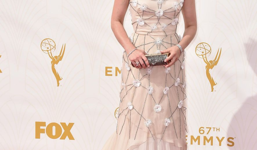 Anna Chlumsky arrives at the 67th Primetime Emmy Awards on Sunday, Sept. 20, 2015, at the Microsoft Theater in Los Angeles. (Photo by Jordan Strauss/Invision/AP)