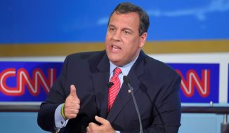 Republican presidential candidate New Jersey Gov. Chris Christie. (Associated Press) ** FILE **