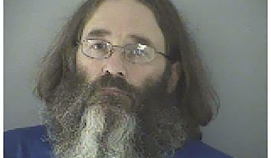 "This undated photo made available by the Butler County Jail shows James Hammes. Arrested by federal agents in May 2015 at Damascus, Va., near the Appalachian Trail, Hammes is facing federal trial in Cincinnati in October for embezzlement. He had been a fugitive for six years, hiking under the name ""Bismarck."" (Butler County Jail via AP)"