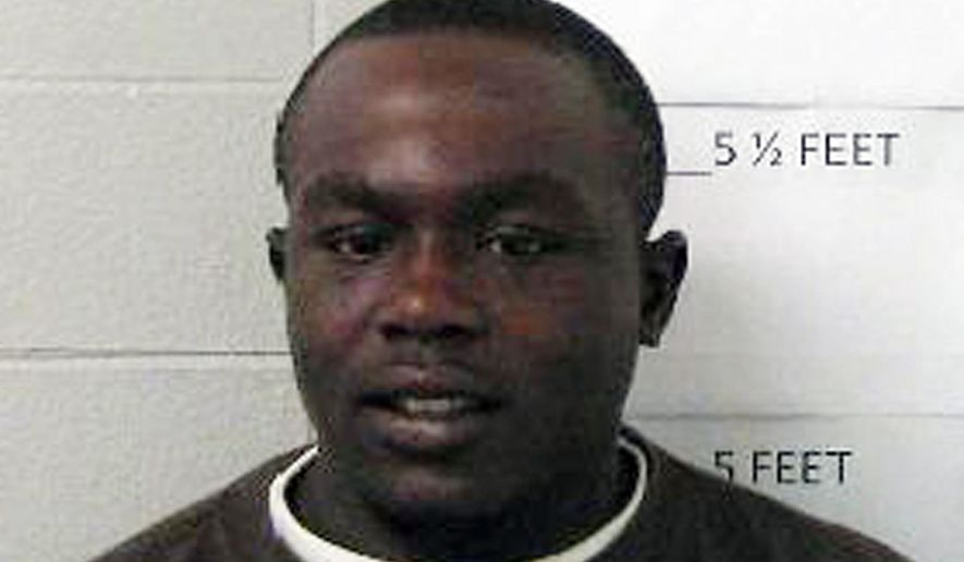 This undated photo provided by the Selma Police Department shows James Minter. Dallas County District Attorney Michael Jackson says suspect Minter has been charged with three counts of attempted murder after allegedly shooting a woman, an infant and a pastor inside a church, Sunday, Sept. 20, 2015, in East Selma, Ala. (Selma Police Department via AP)