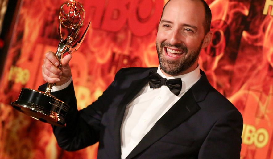 Tony Hale arrives at the 2015 HBO Primetime Emmy Awards After Party at Pacific Design Center on Sunday, Sept. 20, 2015, in West Hollywood, Calif. (Photo by Rich Fury/Invision/AP)