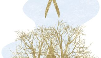 Illustration on pruning back government by Alexander Hunter/The Washington Times