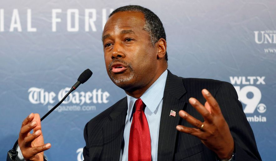 Criticism fell on Republican presidential candidate Ben Carson after he said Sunday that he would not favor electing a Muslim U.S. president. (Associated Press)