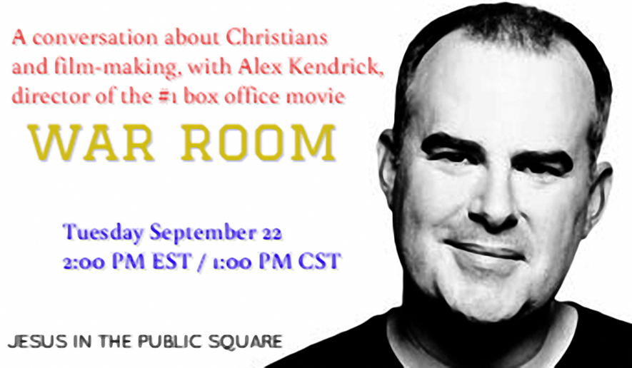 Join us for a live interview with movie director Alex Kendrick.