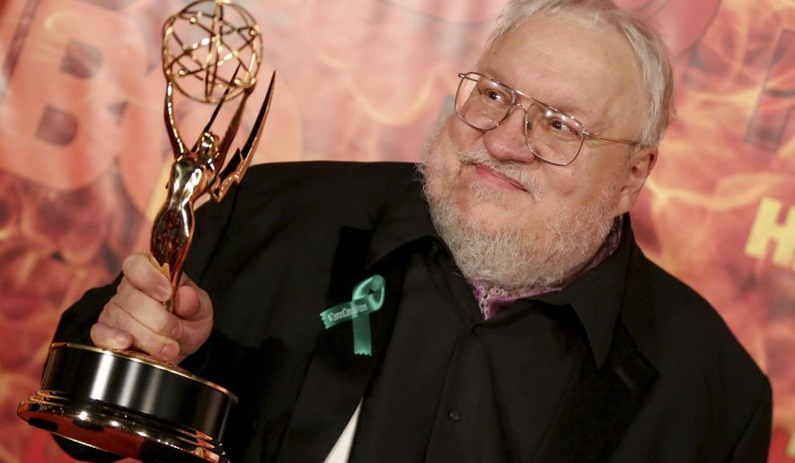 George R. R. Martin arrives at the 2015 HBO Primetime Emmy Awards After Party at Pacific Design Center on Sunday, Sept. 20, 2015, in West Hollywood, Calif. (Photo by Rich Fury/Invision/AP)