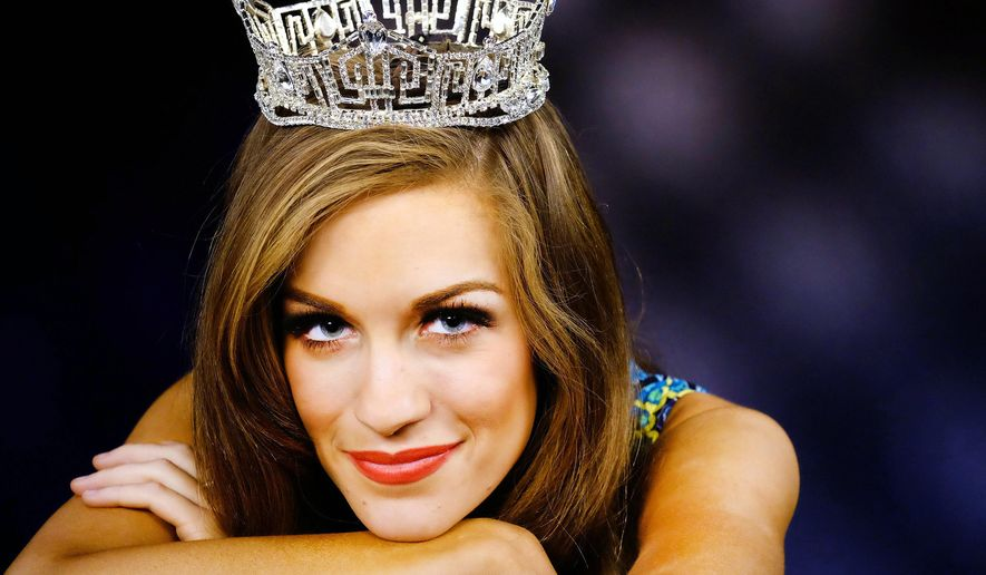 In this Sept. 18, 2015 photo, newly-crowned Miss America 2016, Betty Cantrell poses for a portrait in Los Angeles. Cantrell, who is from Georgia, won a $50,000 scholarship with her title and hopes to someday perform on Broadway (AP Photo/Richard Vogel)