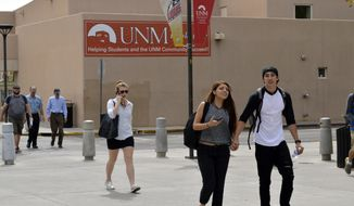 """The University of New Mexico's sex discrimination policies and practices failed to account for """"unwelcome conduct of a sexual nature,"""" including """"verbal conduct,"""" in violation of Title IX, according to the Justice Department investigation. (Associated Press/File)"""
