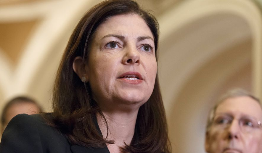 """Right now, we're playing a game of chicken, and it's a dangerous game,"" said Sen. Kelly Ayotte of New Hampshire, who pleaded for her fellow Republicans to forgo a repeat of the 16-day shutdown in 2013. (Associated Press)"