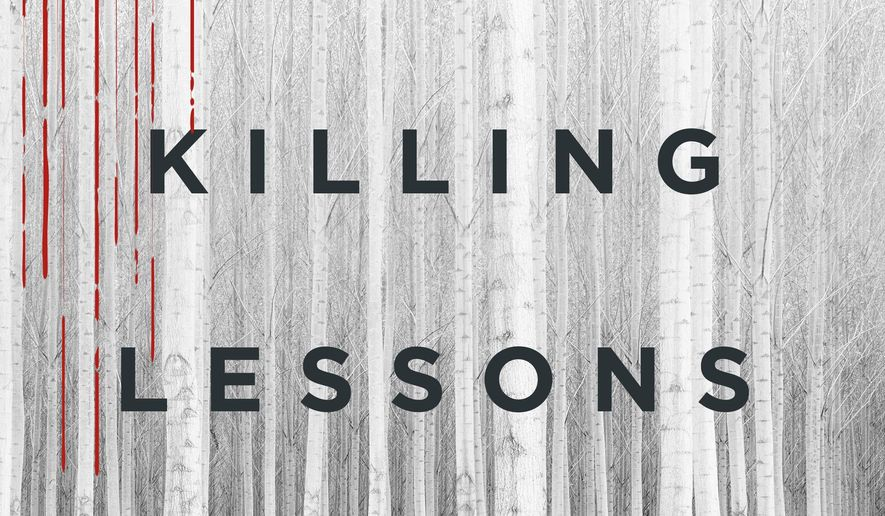 "This photo provided by St. Martin's Press shows the cover of the book, ""The Killing Lessons,"" by Saul Black. (St. Martin's Press via AP)"