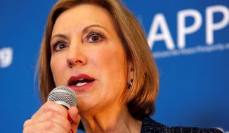 """I will continue to dare anyone who wants to continue to fund Planned Parenthood, watch these videotapes,"" Republican presidential candidate Carly Fiorina says in denouncing the abortion provider. Planned Parenthood says the videos are misleading. (Associated Press/File)"
