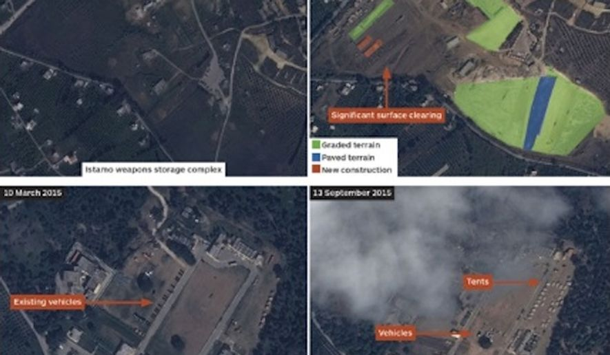 Private satellite images appear to show further Russian military build up in Syria. (image: IHS Jane's)