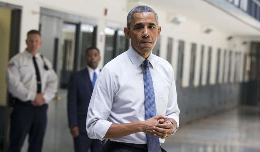 President Obama speaks at the El Reno Federal Correctional Institution in El Reno, Okla., on July 16, 2015. (Associated Press) **FILE**