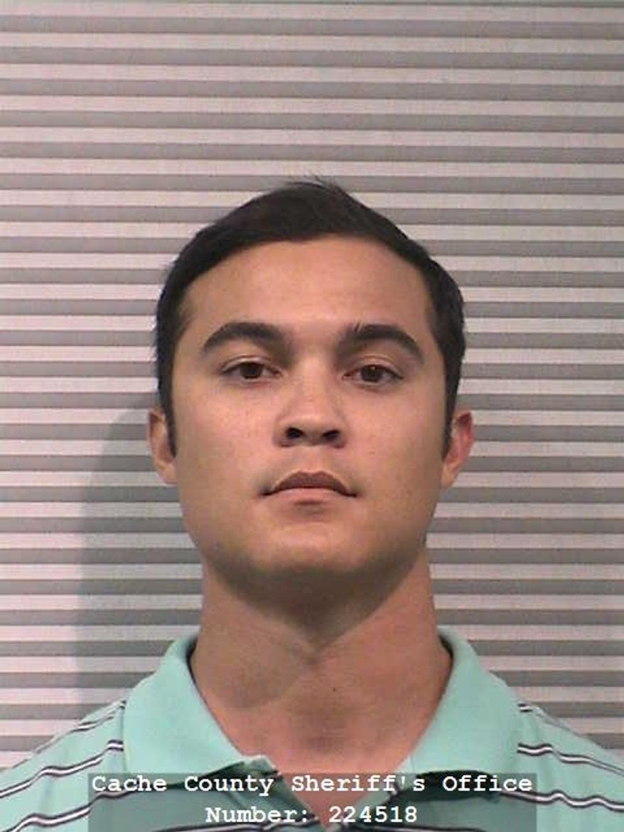 FILE - In this July 21, 2015, file photo, provided by the Cache County Sheriff's Office shows Jason Relopez. Multiple fraternities at Utah State University have been sanctioned amid a pair of sexual assault cases as authorities investigate a separate alleged rape at a branch campus, a spokesman for the institution said Thursday, Sept. 24. The action came in late August after the arrest of Relopez, a brother at Sigma Chi fraternity. (Cache County Sheriff's Office via AP, File)