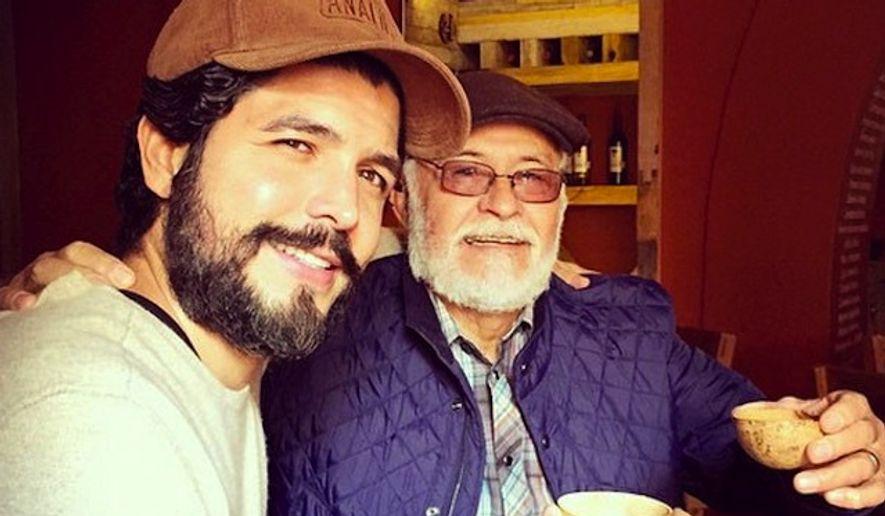 Alejandro Gomez Monteverde with his father. (Instagram via E!)