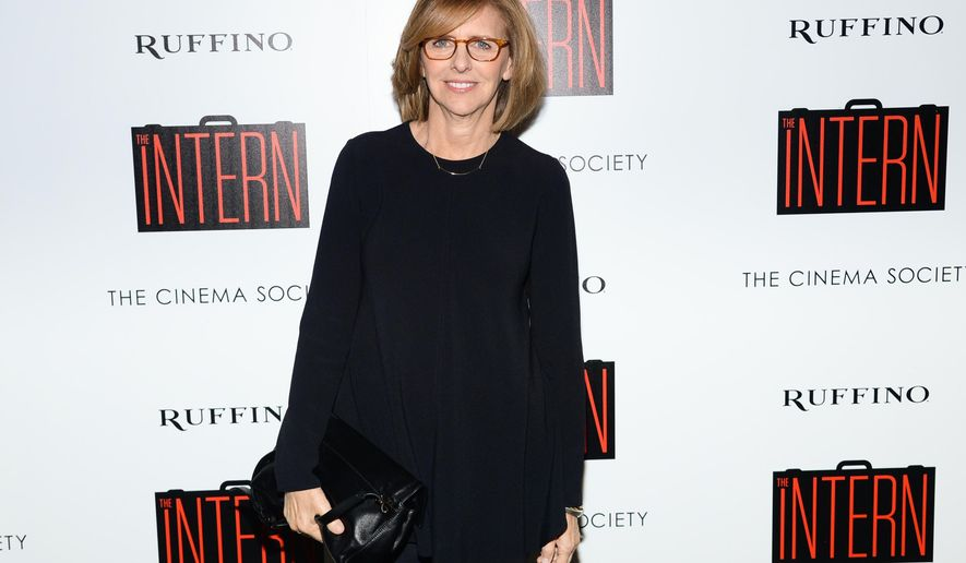 "Writer/director Nancy Meyers attends a special screening of ""The Intern"", hosted by The Cinema Society and Ruffino, at the Landmark Sunshine Cinema on Tuesday, Sept. 22, 2015, in New York. (Photo by Evan Agostini/Invision/AP)"