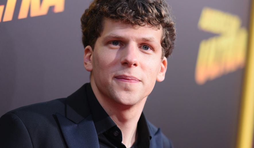 "FILe - In this Aug. 18, 2015 file photo, Jesse Eisenberg arrives at the Los Angeles premiere of ""American Ultra."" Eisenberg, author of ,""Bream Gives Me Hiccups,"" and other actors are following a literary path, publishing in McSweeney's, The New Yorker and other magazines and releasing fiction, humor and essays. (Photo by Richard Shotwell/Invision/AP, File)"