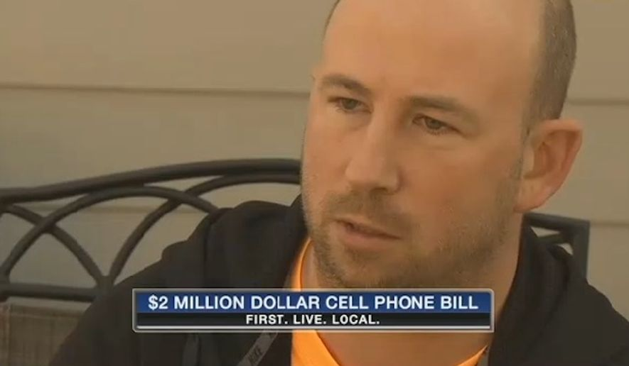 Verizon said it has corrected an error that caused Ken Slusher to almost lose his home over a $2 million cellphone bill. (KPTV)