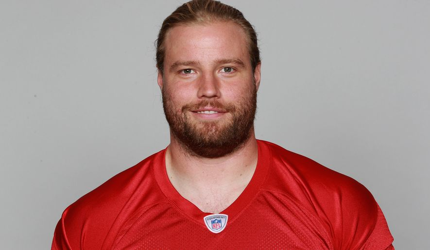 FILE - In this June 15, 2015, file photo, Atlanta Falcon' Brooks Reed poses for an NFL football photo in Flowery Branch, Ga. It will be at least another week before linebacker Reed debuts with the Falcons. Reed practiced Friday, Sept. 25, 2015, for the second straight day in a limited capacity, and coach Dan Quinn said the team will not rush his return. (AP Photo/File)