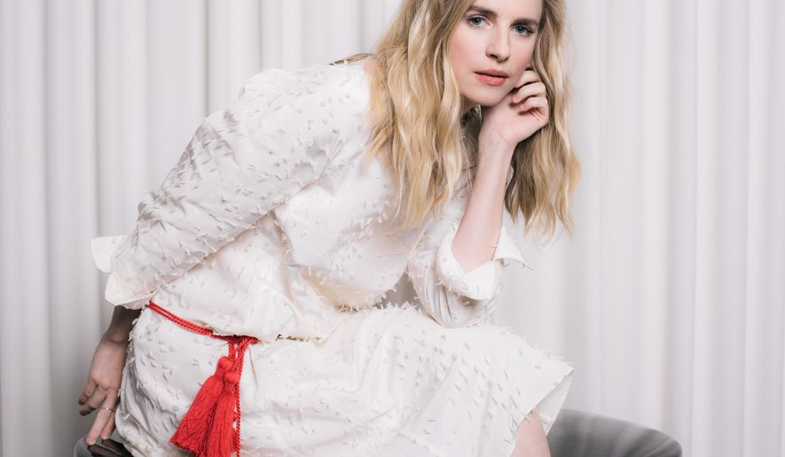 "In this Tuesday, Sept. 22, 2015 photo, actress Brit Marling poses for a portrait during press day for ""The Keeping Room"" at the SLS Hotel in Los Angeles. The movie opens in U.S. theaters on Friday, Sept. 25, in limited release and nationwide in October. (Photo by Casey Curry/Invision/AP)"